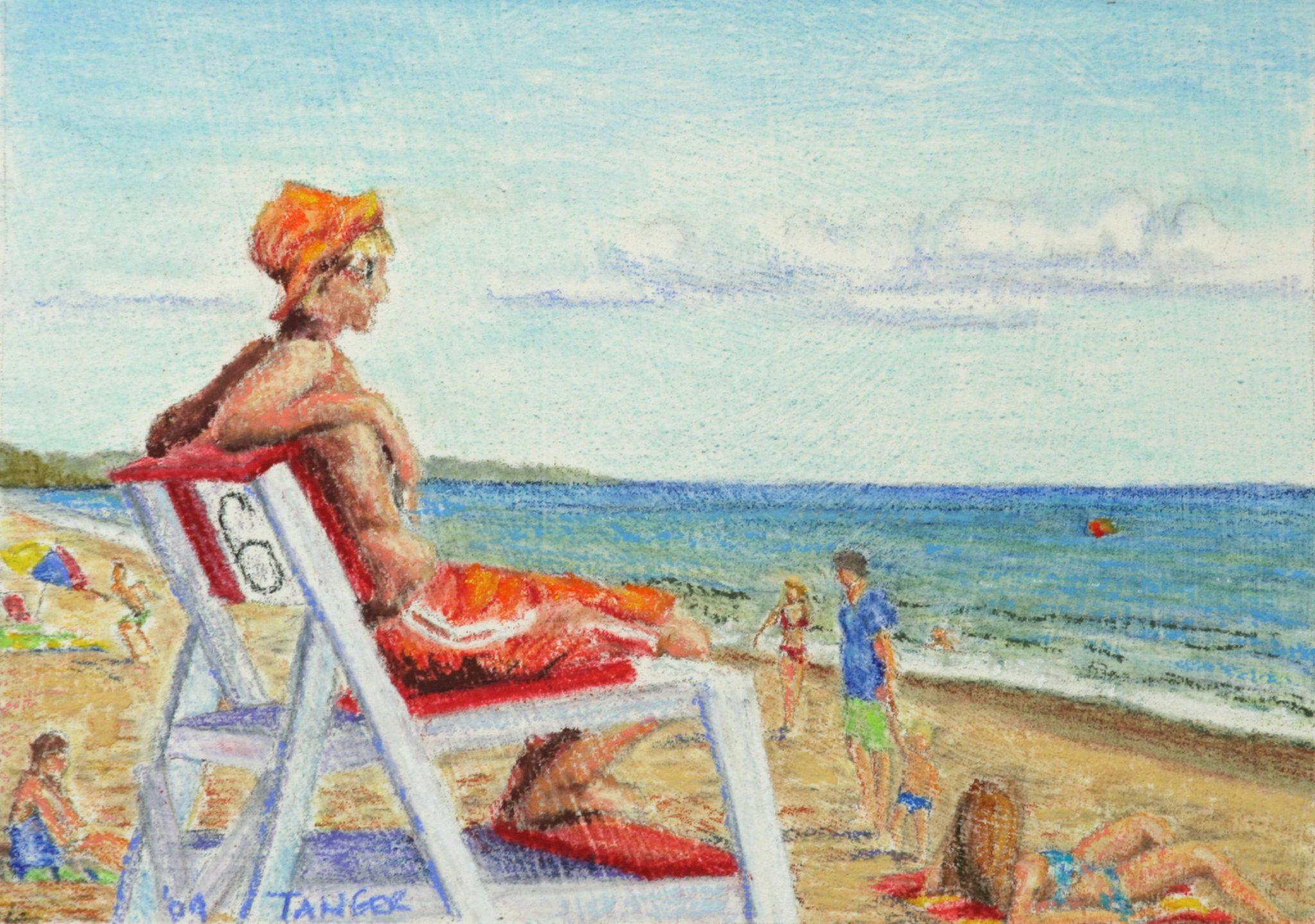 lifeguard #6 at Misquamicut beach
